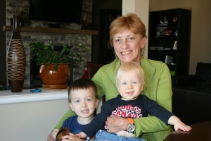 Nanny Pat with my nephews Carter and Quinn
