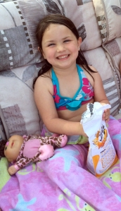 It's cool to eat Goldfish right from the bag in your bikini, right?